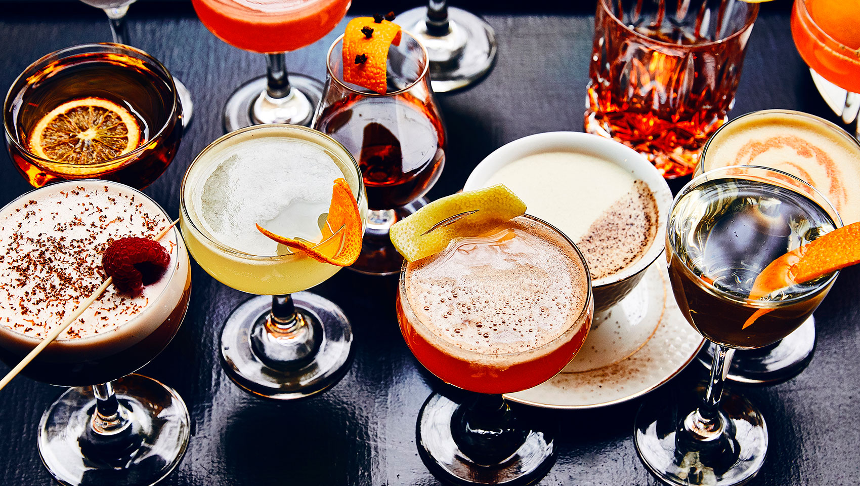 Delicious assortment of craft cocktails from old fashions to espresso martinis