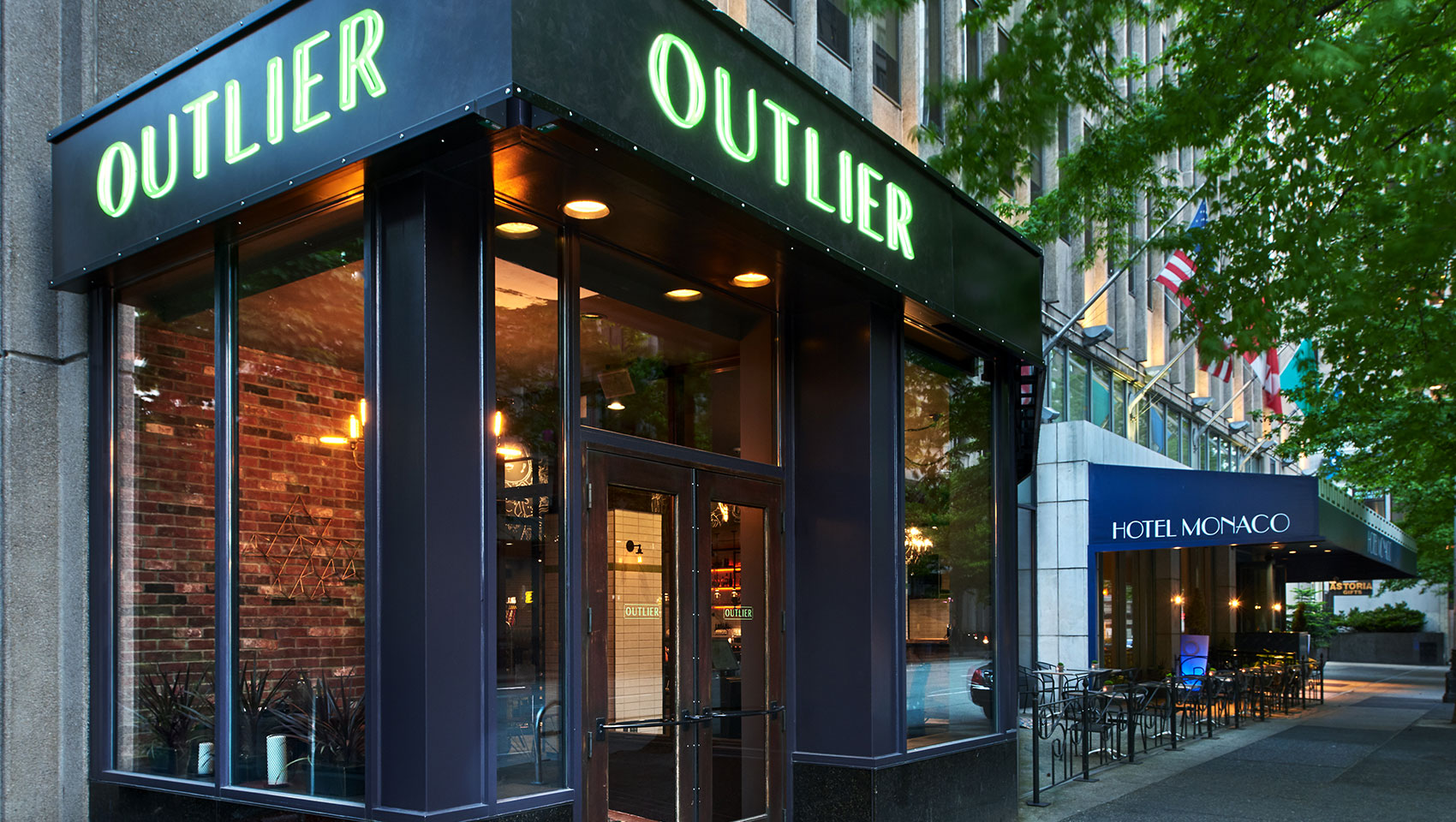 Outlier Seattle on the corner of 4th avenue